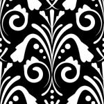 damask seamless pattern dark