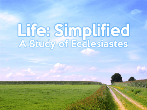 Ecclesiastes - Series Graphic