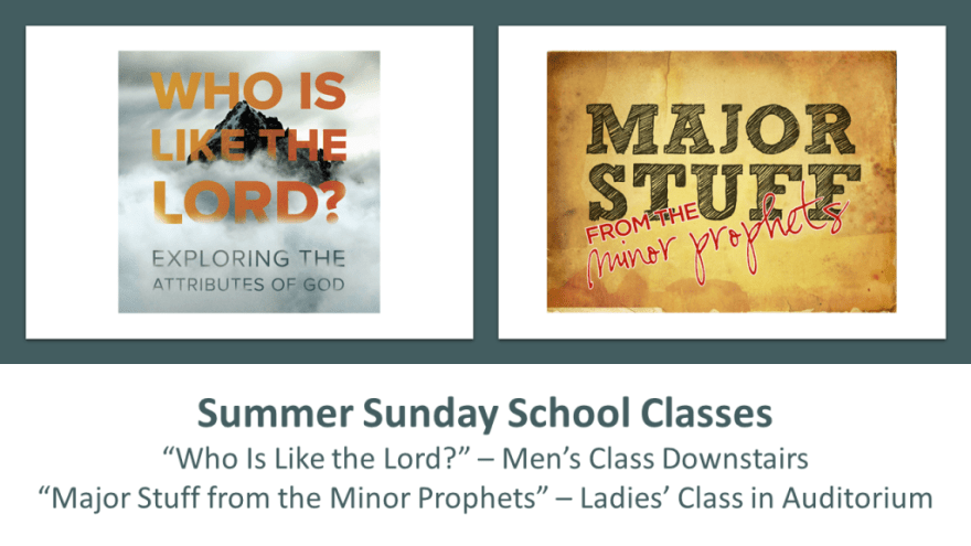 2016 Summer Classes