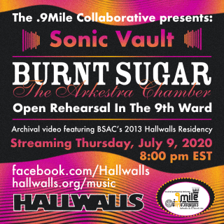 flyer announcing Burnt Sugar in The Sonic Vault