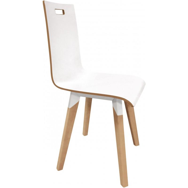 chaise 4 pieds avec poignee de prehension
