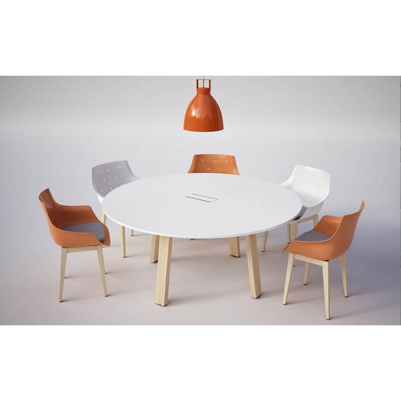 table ronde diametre 160 cm avec trappe d acces