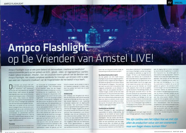 Ampco Flashlight artikel in EB Live, 2018