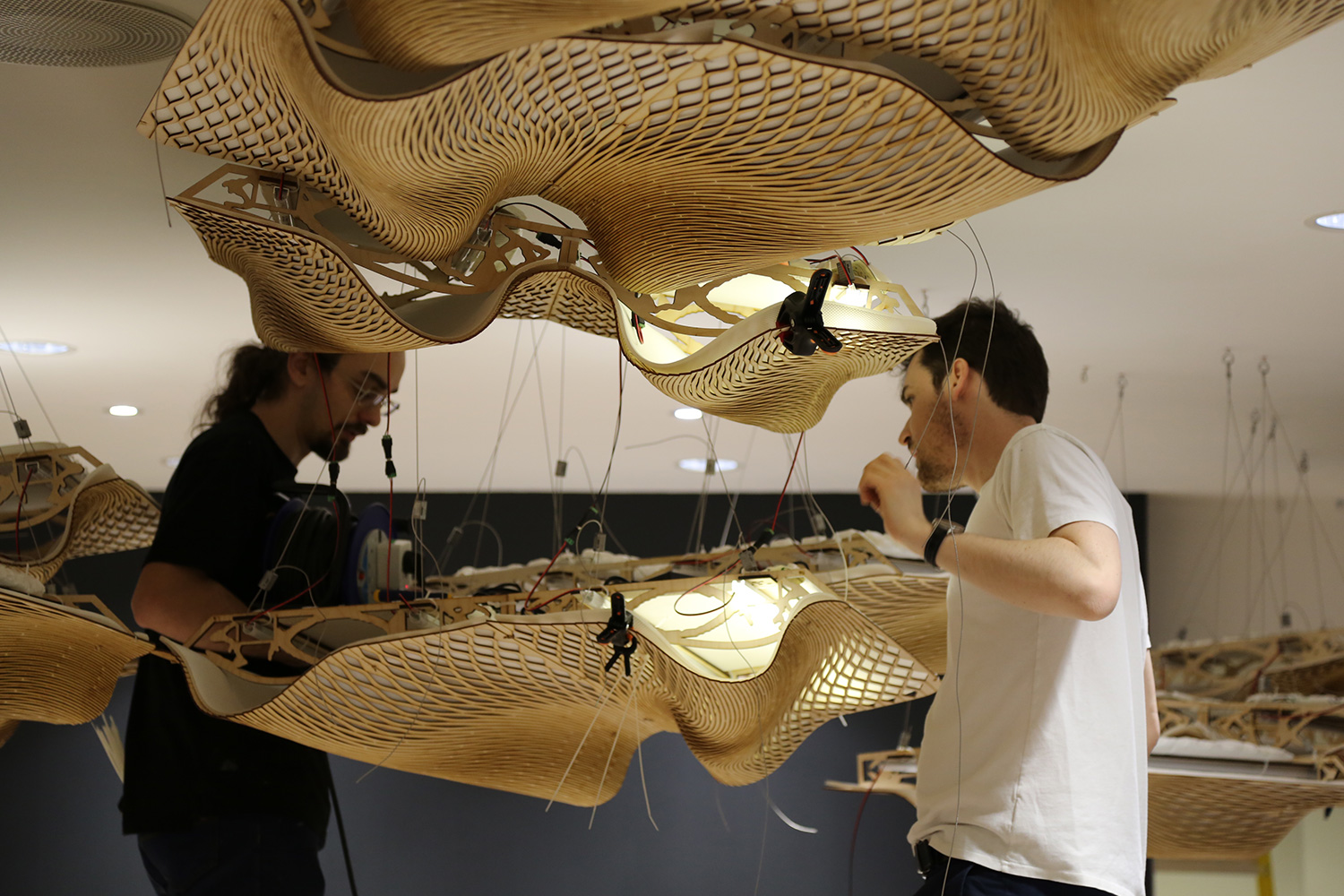 Weirdly Wonderful Wooden Waves Ceiling Wins Gold Medal  BuroHappold Engineering