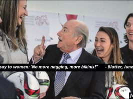 "Sepp Blatter: ""I have great plans for you."""