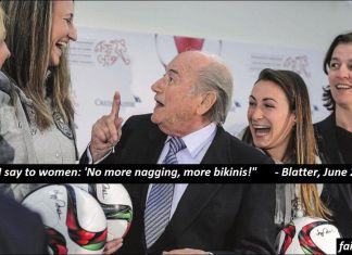 "Sepp Blatter: ""I have great plans for you."""