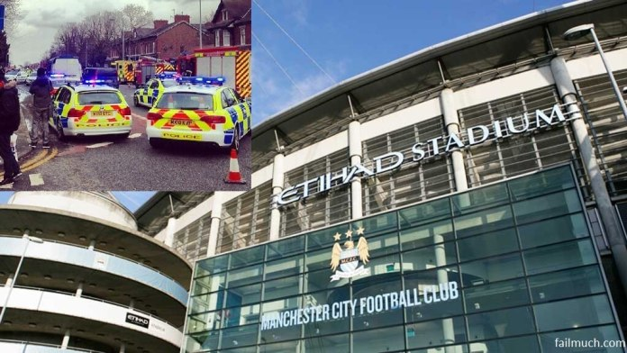 Etihad stadium + police