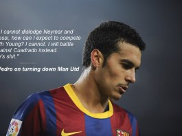 Pedro speaking about Ashley Young.