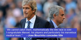 Mourinho concedes title to Man City