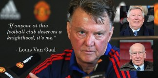 Louis Van Gaal Claims He Should Be Knighted For Meeting Crazy Expectations