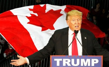 """Donald Trump Claims He Will """"Buy Canada"""" if Clinton Gets Elected"""