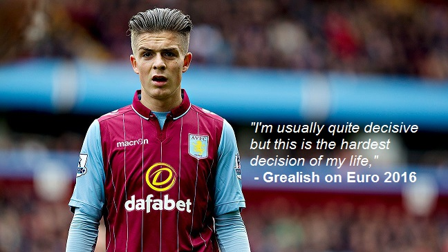 Jack Grealish Admits He Faces The Hardest Decision Of His Life Ahead Of Euro 2016