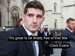 """Ched Evans Relieved To Be Downgraded From """"Convicted Rapist"""" To """"Alleged Rapist"""""""