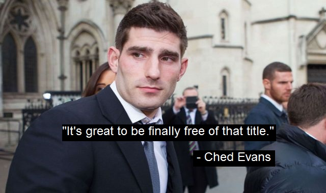 Ched Evans Relieved To Be Downgraded From