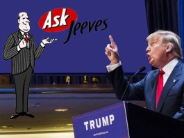 "Trump Ask Jeeves ""the only one I trust right now."""
