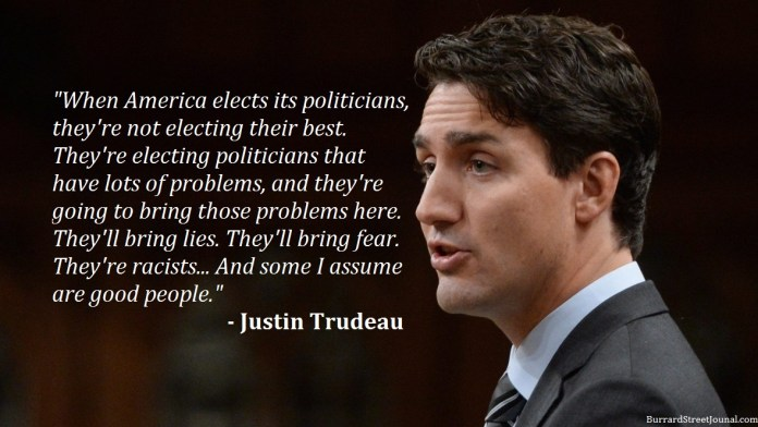 Trudeau Calls For Ban On American Politicians Entering Canada