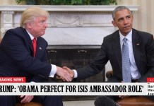 President Trump Offers Obama New Role As First US Ambassador To ISIS (JIM WATSON/AFP/Getty Images)