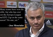 Mourinho: 'Europa League/EFL Double Would Be Greatest Achievement In Man Utd History'