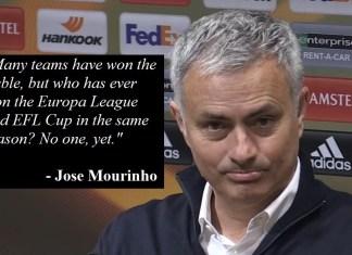 Mourinho: 'Europa League/EFL Double Would Be Greatest Achievement In Man Utd History'