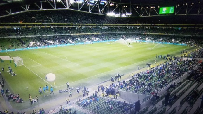 Tragic Scenes At Ireland v Northern Ireland Game As 16 Supporters Die Of Boredom