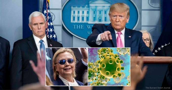 Trump Declares Hillary Clinton Is Coronavirus Patient Zero