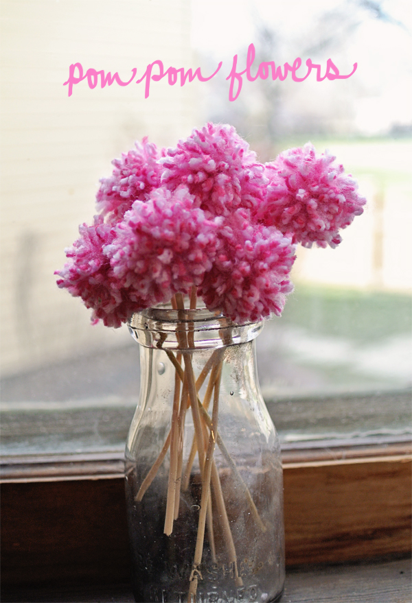 pompom flower bouquet