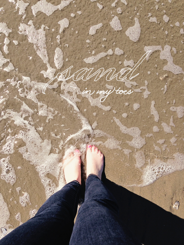 August sand in my toes