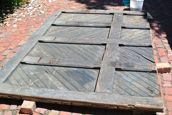 barn door headboard project