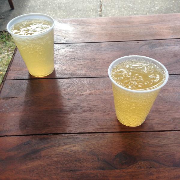 apple cider mimosas, Burritos & Bubbly