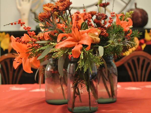 autumn flower arrangement   Burritos & Bubbly