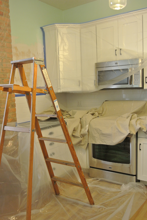 kitchen in progress | Burritos & Bubbly