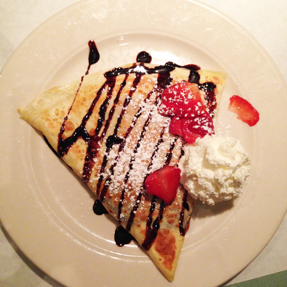 crepe at La Petite Triangle, Cleveland