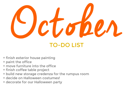 october to-do list