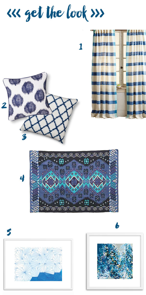 get the look >> decorating with blue
