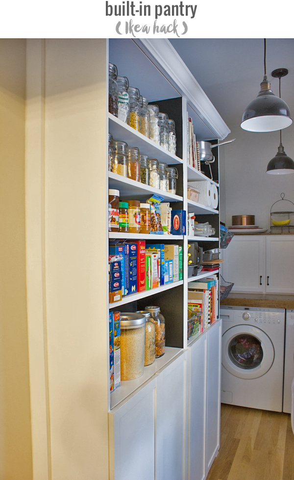 our built-in pantry Ikea hack