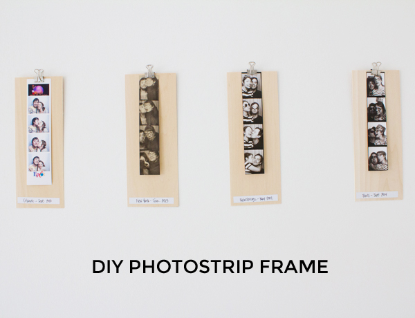 DIY photostrip frame