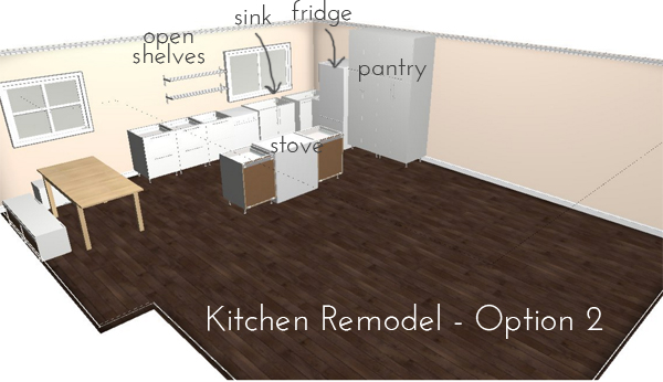 kitchen-kitchen remodel plans - option 2