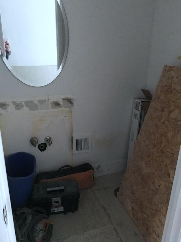 bathroom reno progress report