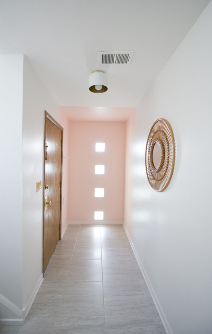 blush pink entryway makeover