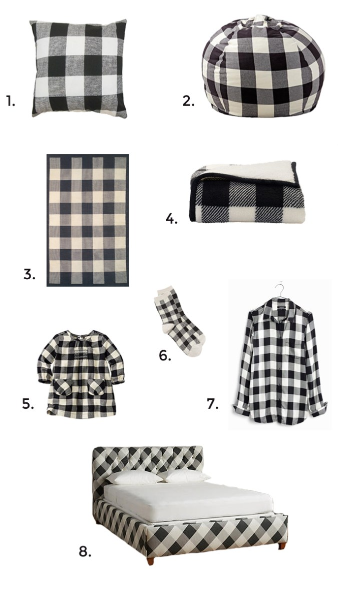get the look: buffalo check