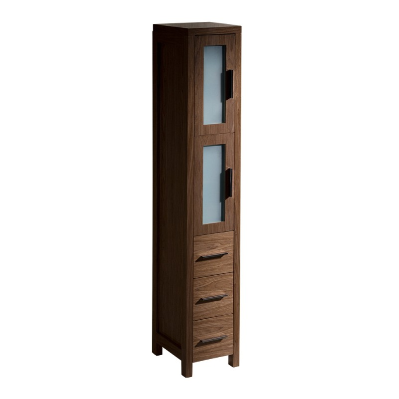 chair rail profiles stands exercise fresca torino walnut brown tall bathroom linen side cabinet - burroughs hardwoods online store