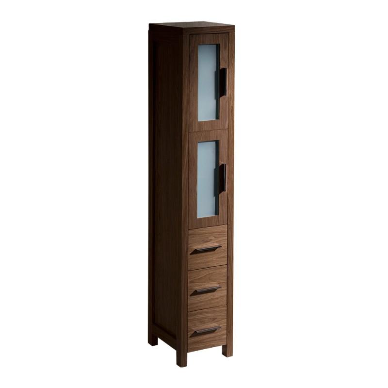 chair rail profiles perfect posture jellyfish fresca torino walnut brown tall bathroom linen side cabinet - burroughs hardwoods online store