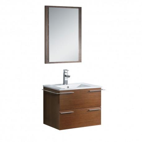 """Fresca Cielo 24"""" Wenge Brown Modern Bathroom Vanity w ..."""