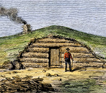 Dugout Homes  History in Early America