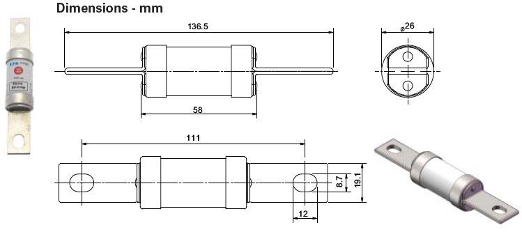 TC gM Low Voltage Fuses 660-690v AC 350v DC