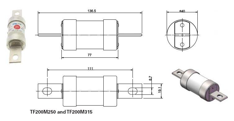 TF gM Low Voltage Fuses 550-660-690v AC 350v DC
