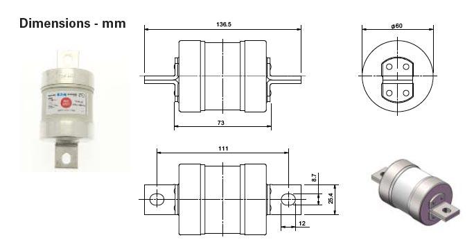 TMF gG Low Voltage Fuses 660-690v AC 460v DC