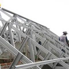 Contoh Rangka Atap Baja Ringan Minimalis Konstruksi Kuat Aman