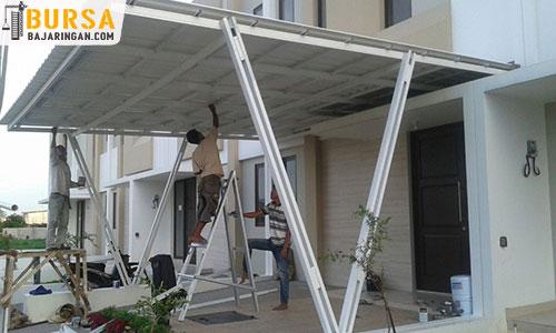 contoh atap baja ringan rumah minimalis 15 model teras desain terbaru 2020
