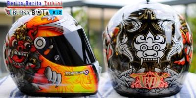 Helm Buatan Amerika Usung Gaya Motif Barong Bali Budaya Indonesia